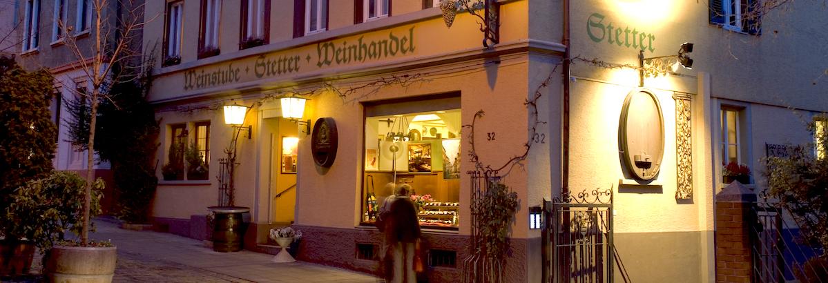Weinhaus Stetter in der Rosenstraße im Historischen Bohnenviertel in Stuttgart