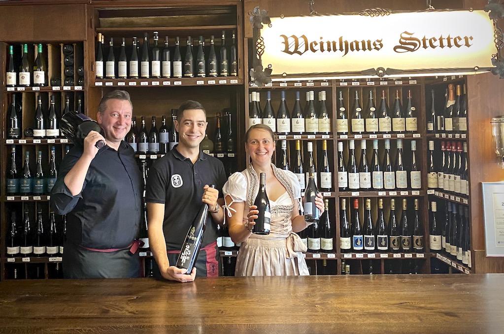 Das Weinhaus Stetter Team Andreas Scherle Daniel Erne