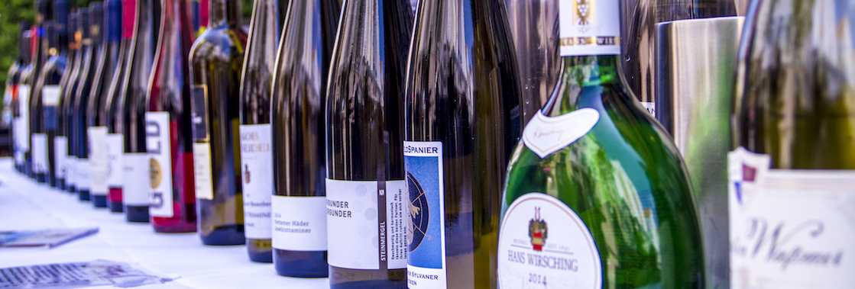 Sortiment von Weinhaus Stetter öffentliche weinverkostung in Stuttgart VDP Weine
